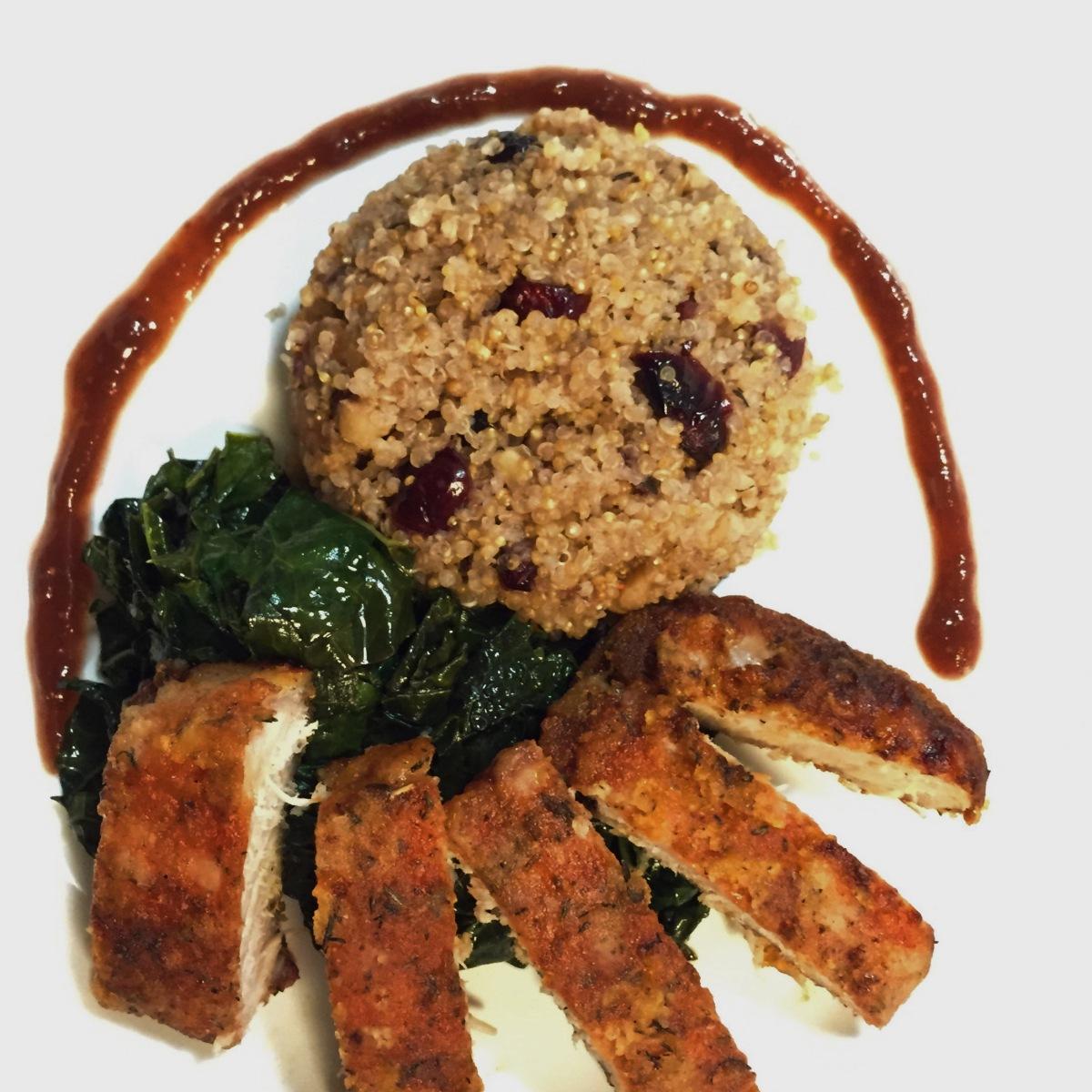 ... Quinoa, Walnut & Cranberry salad, and A Fig and Port Glaze | Chef